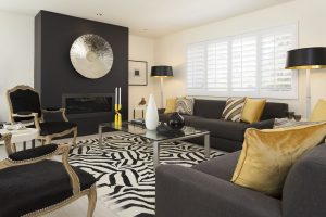 Beverly Hills Regency Style Decor Christian Lacroix Zebra Carpet