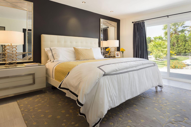 Black Shelves In Bedroom