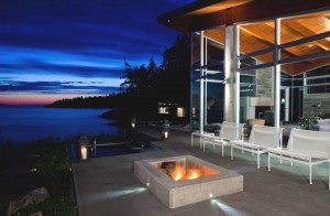 Patio Firepit by the Water