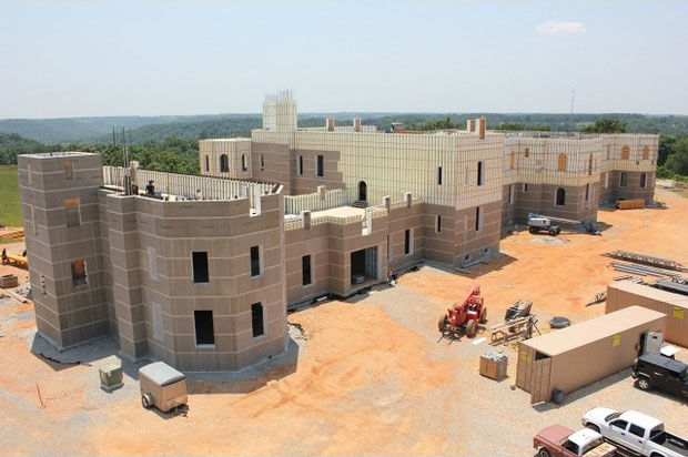 Mystery Mansion Under Construction In The Ozarks