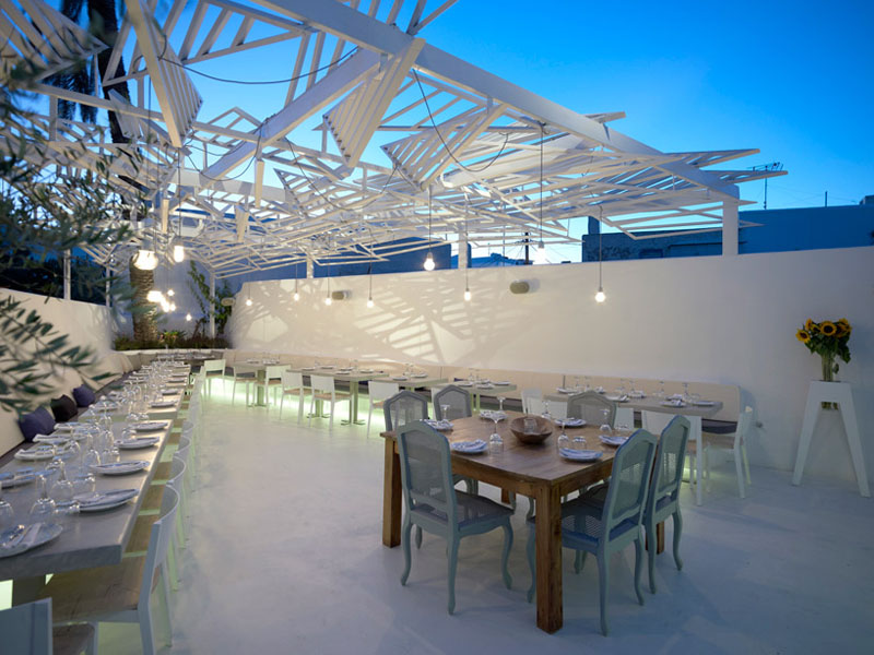 Outdoor Restaurant Mykonos