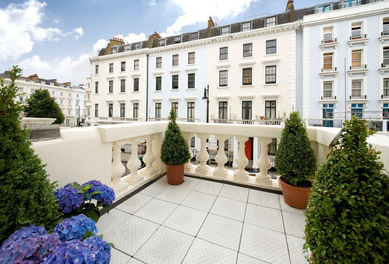 Classic Victorian House Terrace Balcony