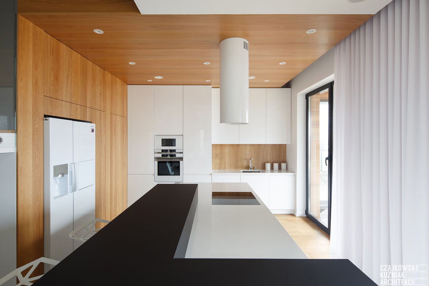 Poland Modern Home Interior Black White Light Wood Color