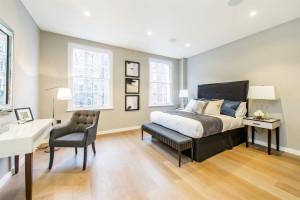 Natural Wood Floor Bedroom