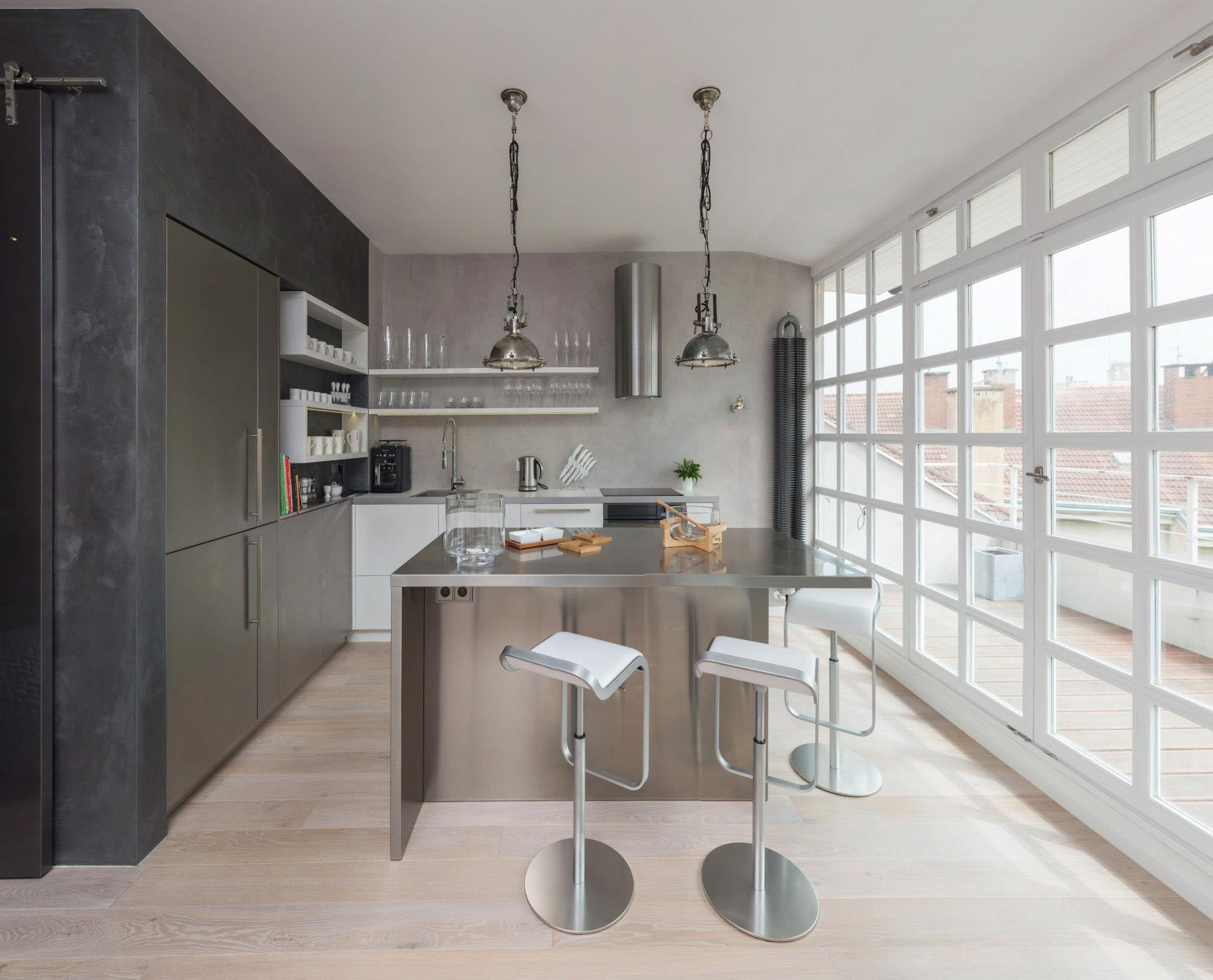 Modern Loft Apartment Kitchen