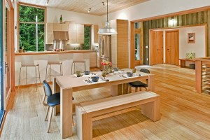 Interior of Modern Prefab Country Home