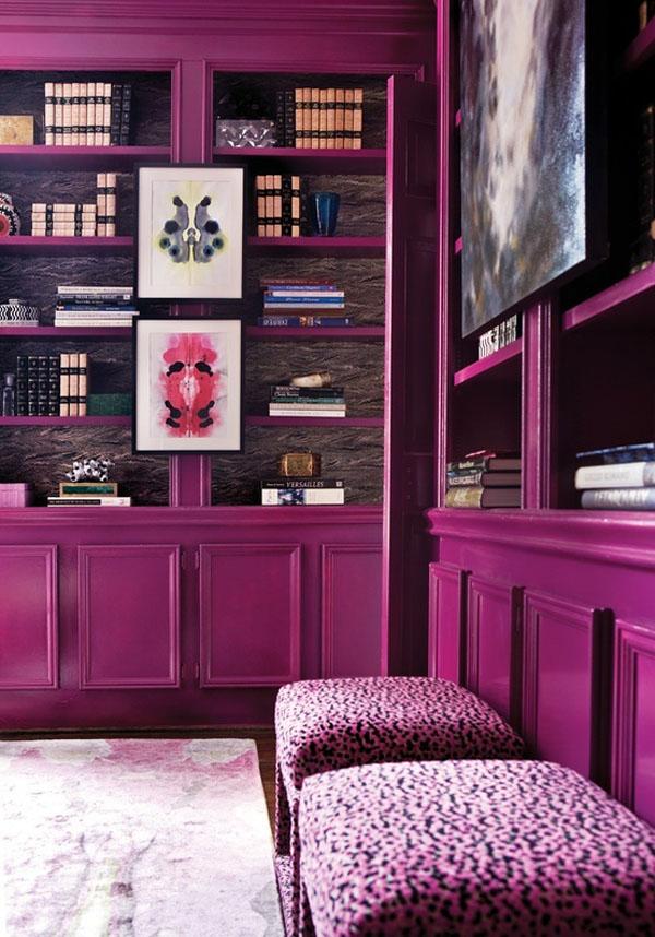 Fuchsia Purple Interior Decor