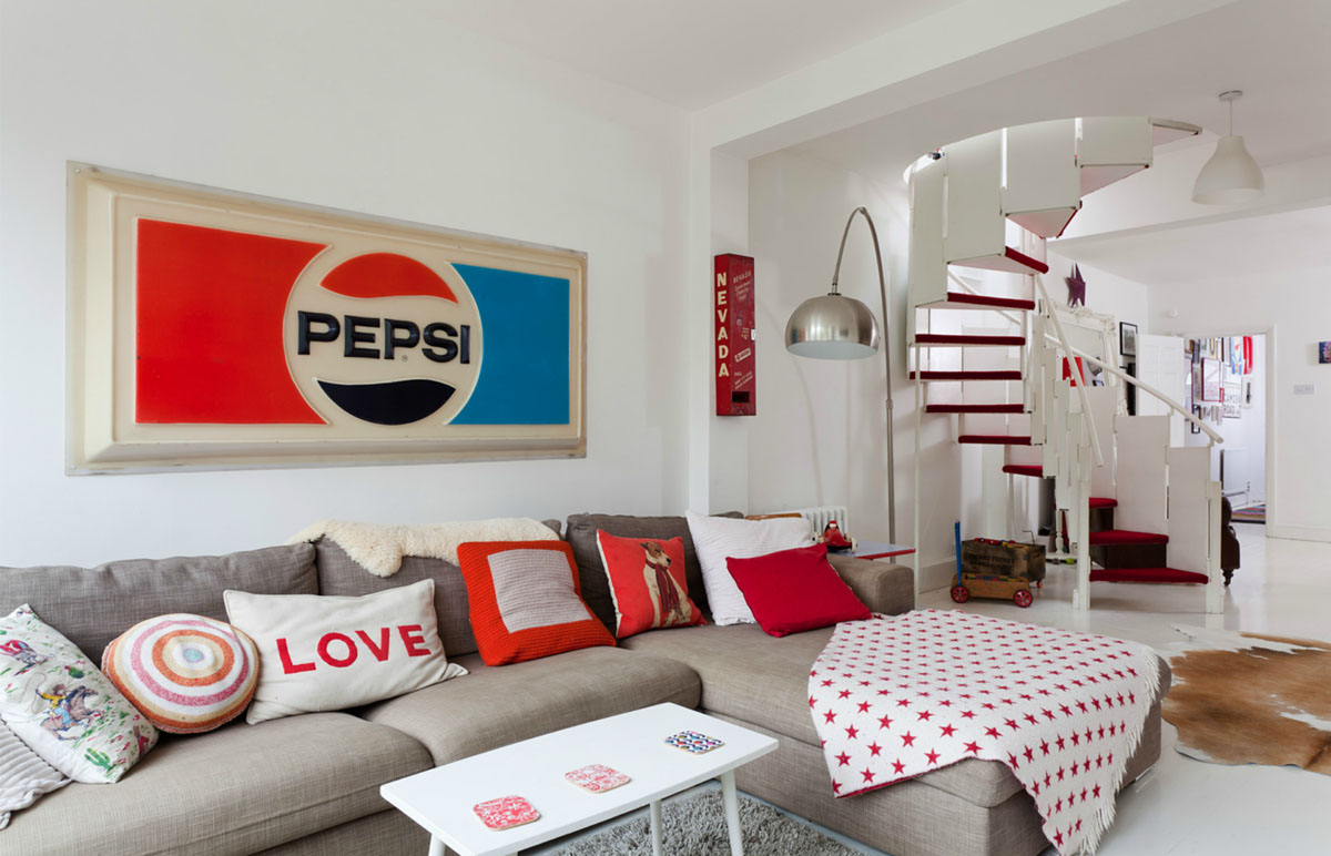 House In Ravenscourt With Red And White Theme Idesignarch Interior Design Architecture Interior Decorating Emagazine