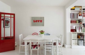 British Themed Red and White Decor