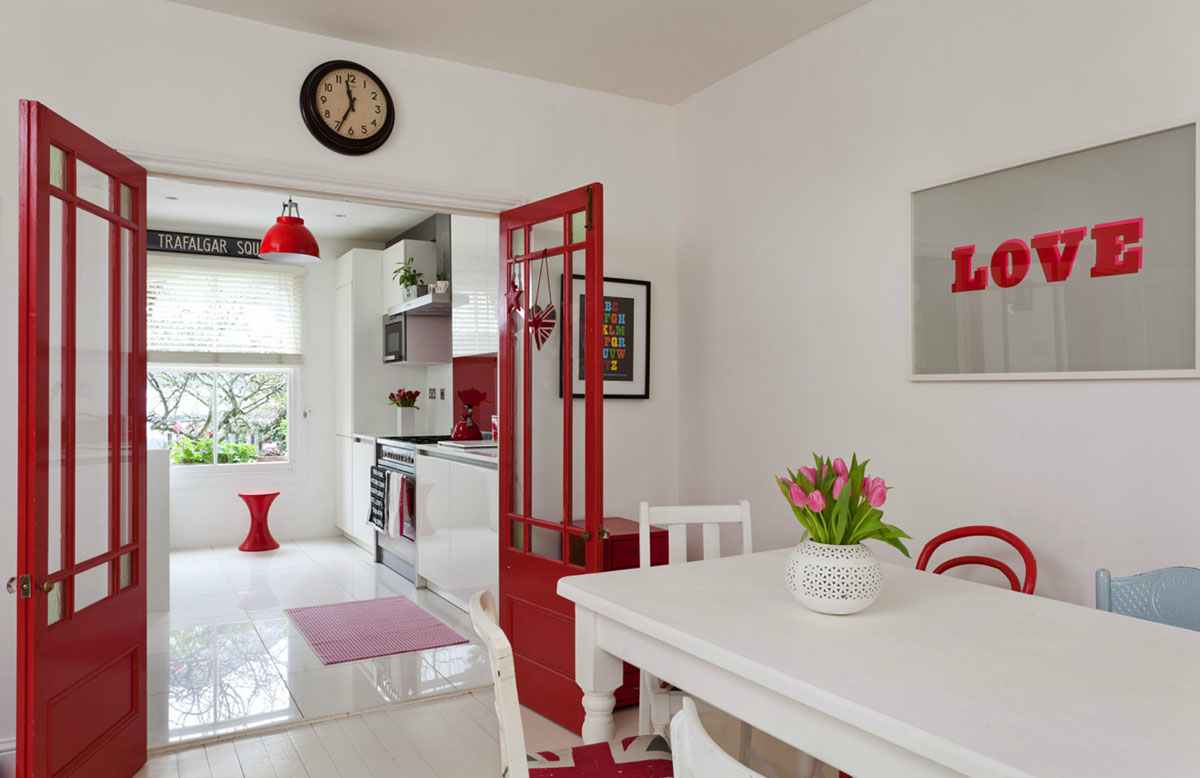Red and White Interior Decor