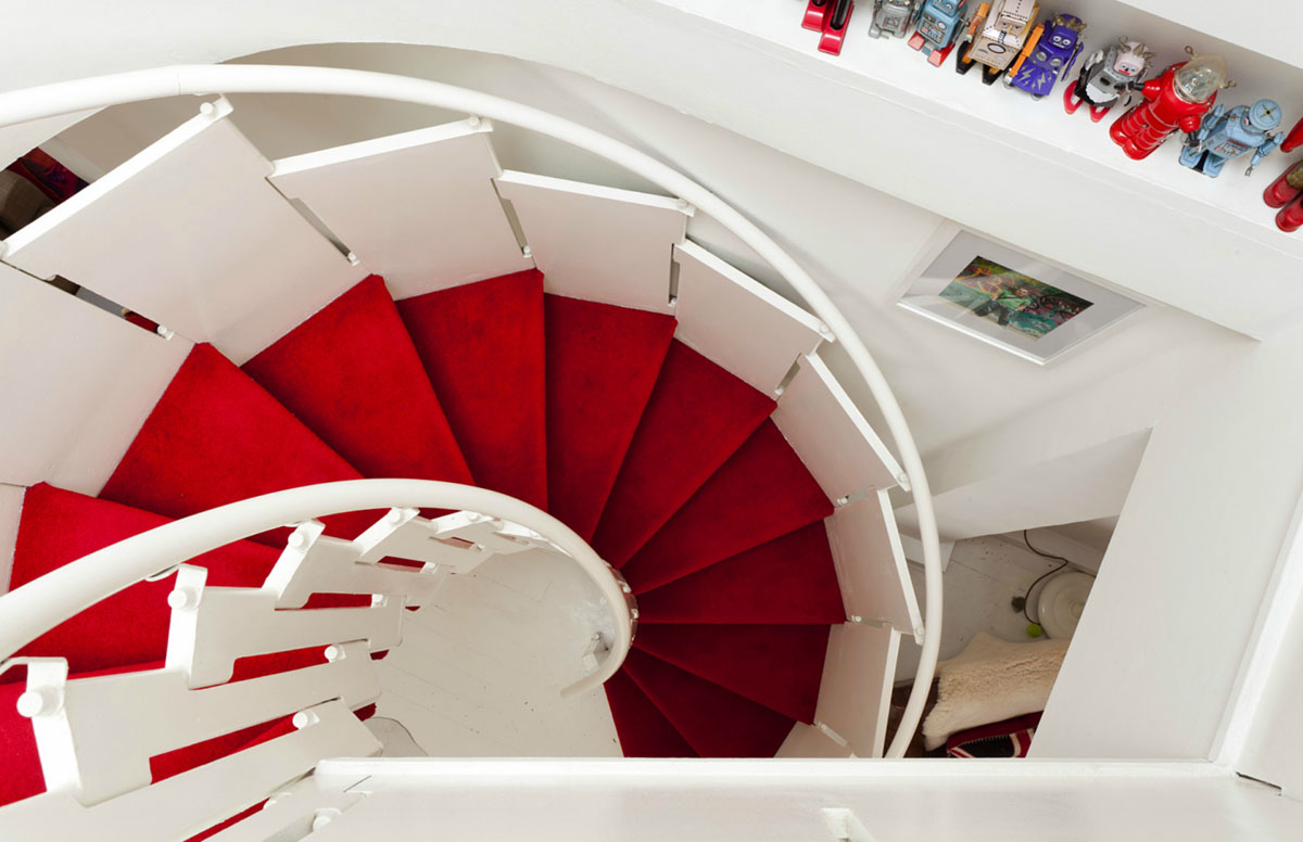 Red Spiral Staircase