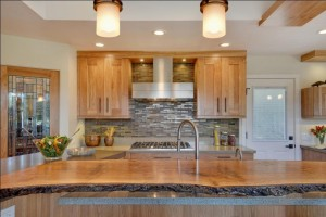 Live Edge Wood Kitchen Counter