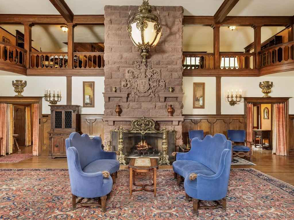 Tudor-Style Mansion Interior Living Room