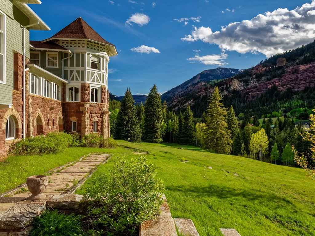 Mansion in the Colorado Rockies