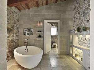 Rustic Stone Bathroom