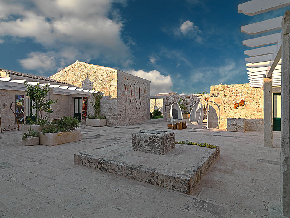 Relais Masseria Capasa Hotel Courtyard