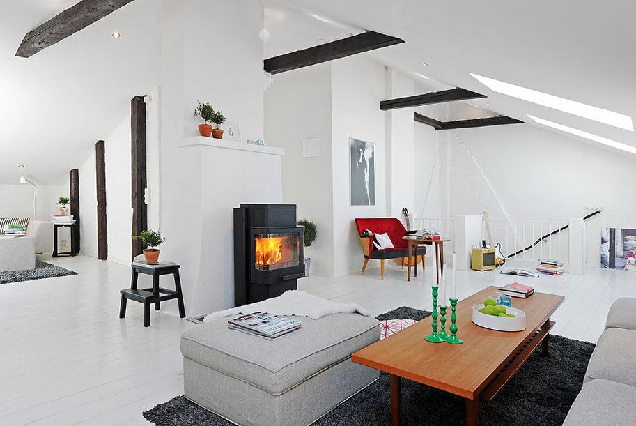 Renovated attic duplex apartment design idesignarch for Arredamenti per case piccole
