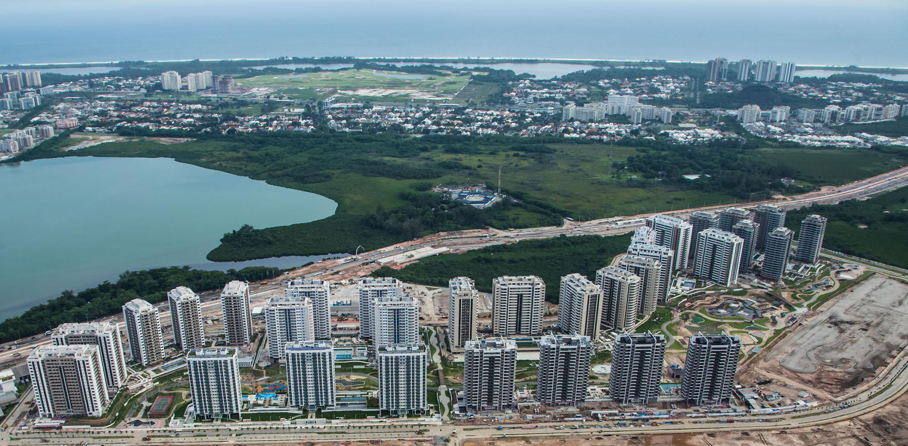 Aerial View of Rio 2016 Olympic Village