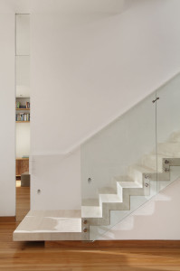 Marble Stairs with Glass Railings