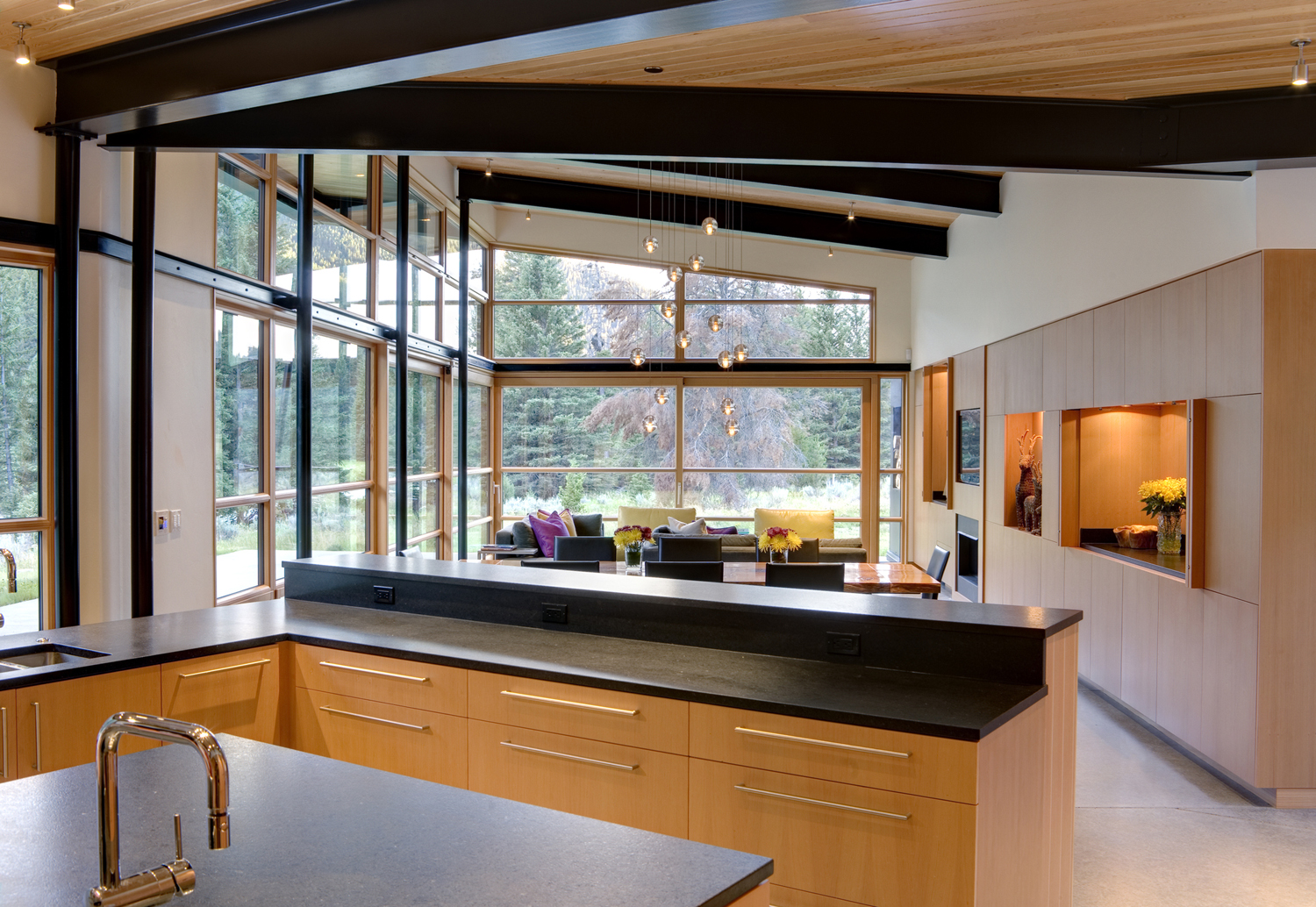 Montana river bank modern sustainable home idesignarch
