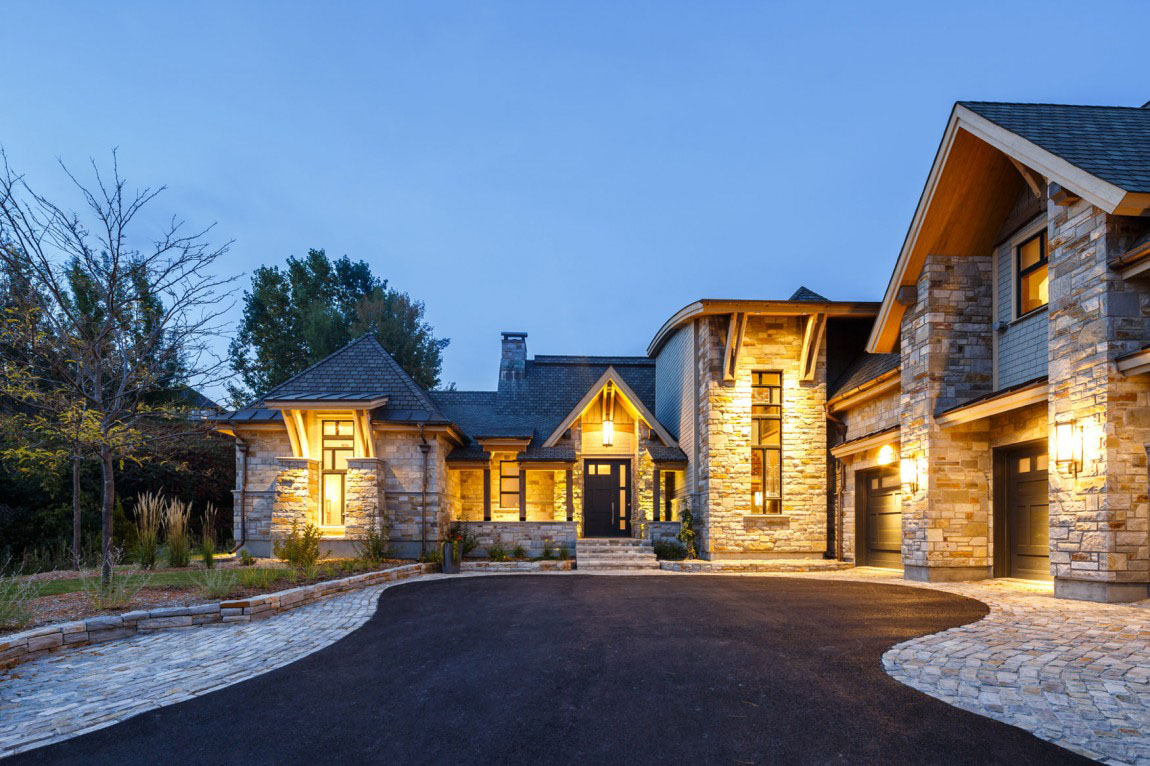 Contemporary Timber Stone House