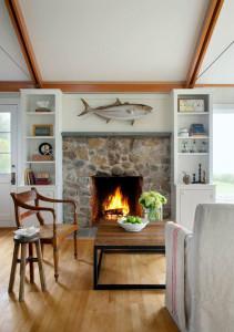 Beach House Stone Fireplace
