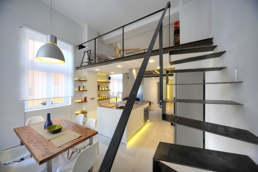 Refurbished Industrial Loft Apartment In Rome | iDesignArch ...