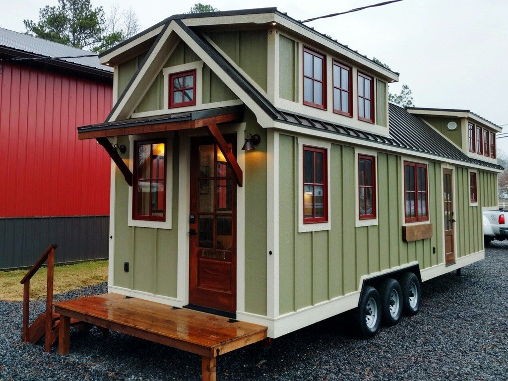 Spacious Farmhouse Style Luxury Tiny Home | iDesignArch ... on high-end office furniture, beautiful trailer homes, high-end boats, high-end travel trailers, high-end condos, high-end tents, high-end airstream trailers, modular homes, high-end cars, high-end sheds, modern homes,