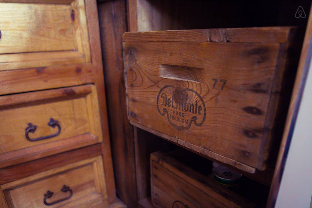 Vintage Del Monte Fruit Crates Drawers