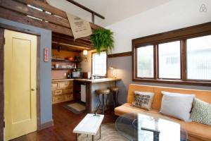 Spacious Tiny House Living Area