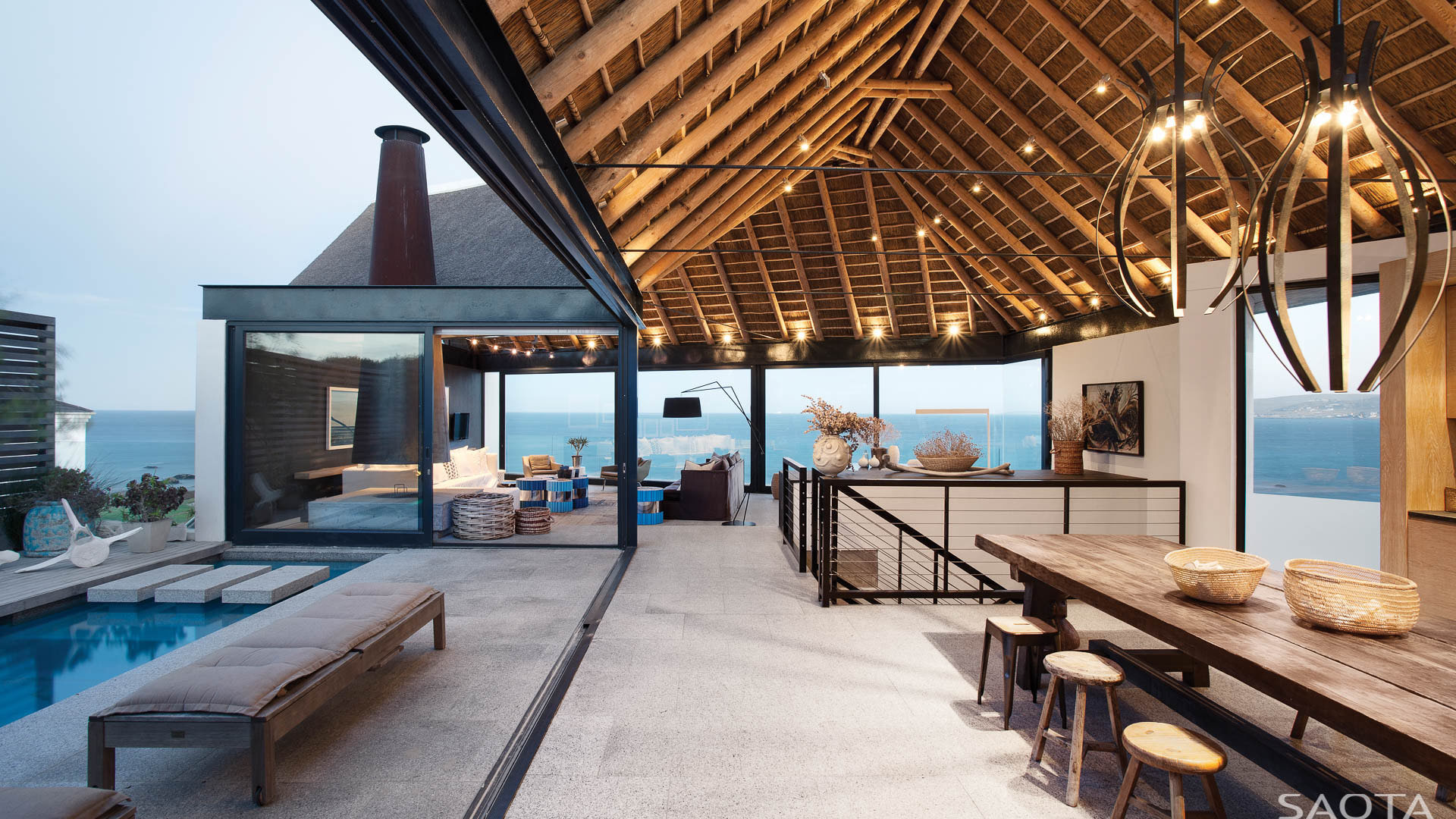 ocean view contemporary luxury home with thatched roof idesignarch interior design. Black Bedroom Furniture Sets. Home Design Ideas