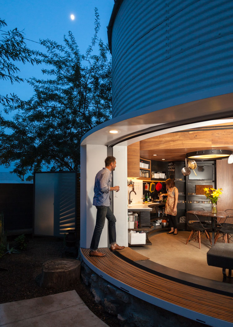 Modern Classic Interior Design: Grain Silo Converted Into A Cozy 340 Square Foot Small