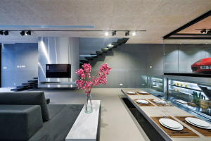 elevated dining table