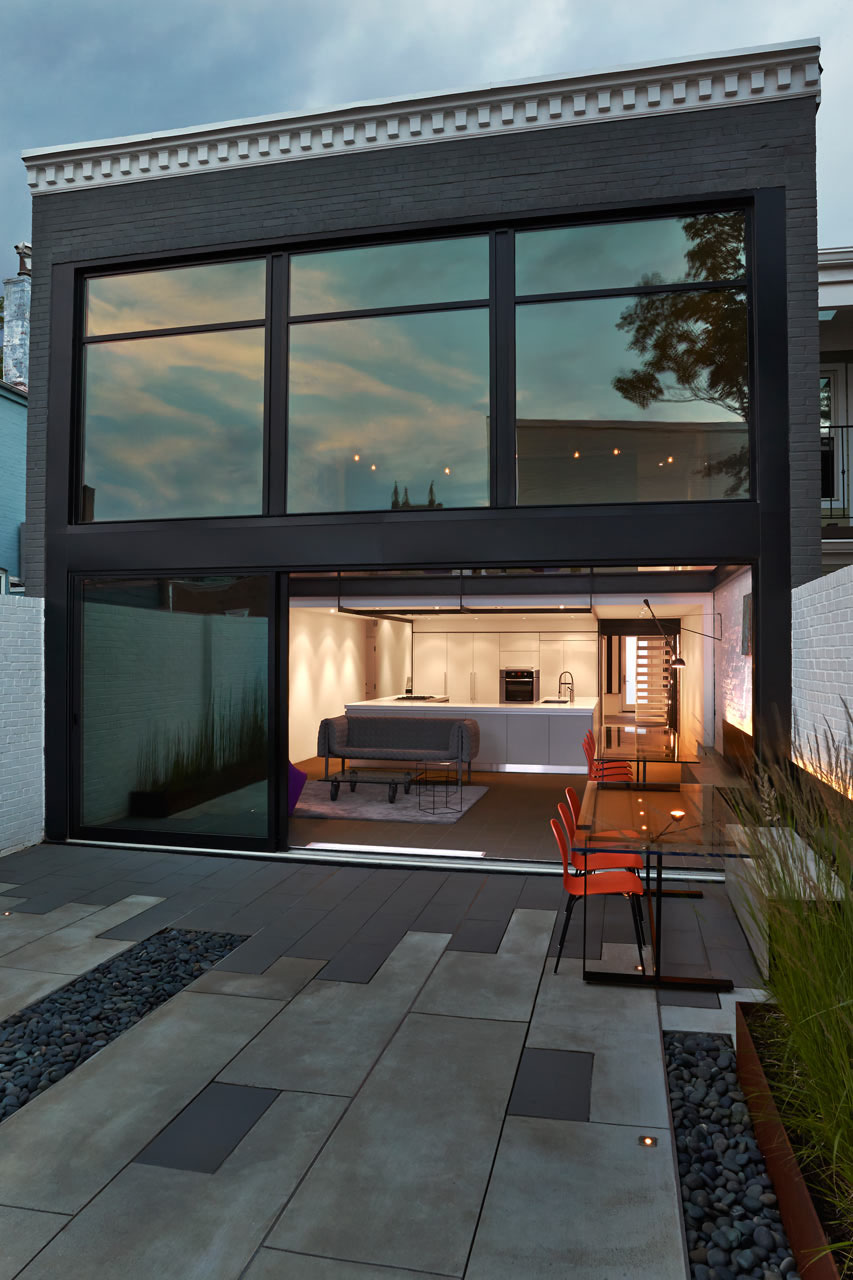 Contemporary Row House With Open Concept Living And