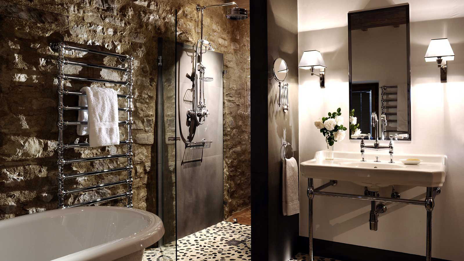 Rustic Stone Bathroom Design