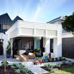 An Elegant Suburban Modern Cottage With Playful Interior Elements