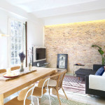 Attractive Renovated Modern Flat With Brick Wall