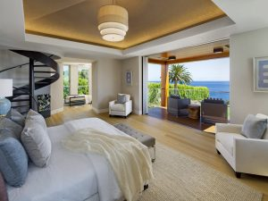 Master Bedroom with Spiral Staircase and Ocean View