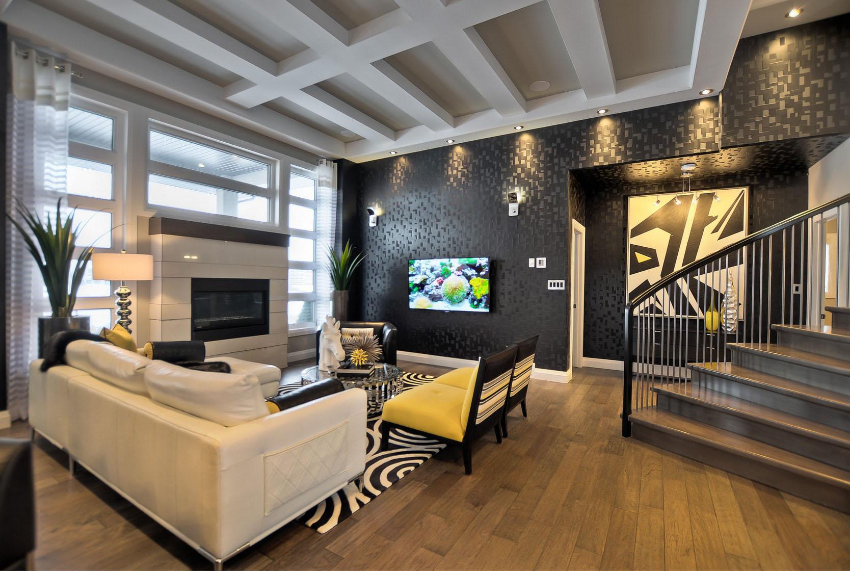 Interior decoration of living room