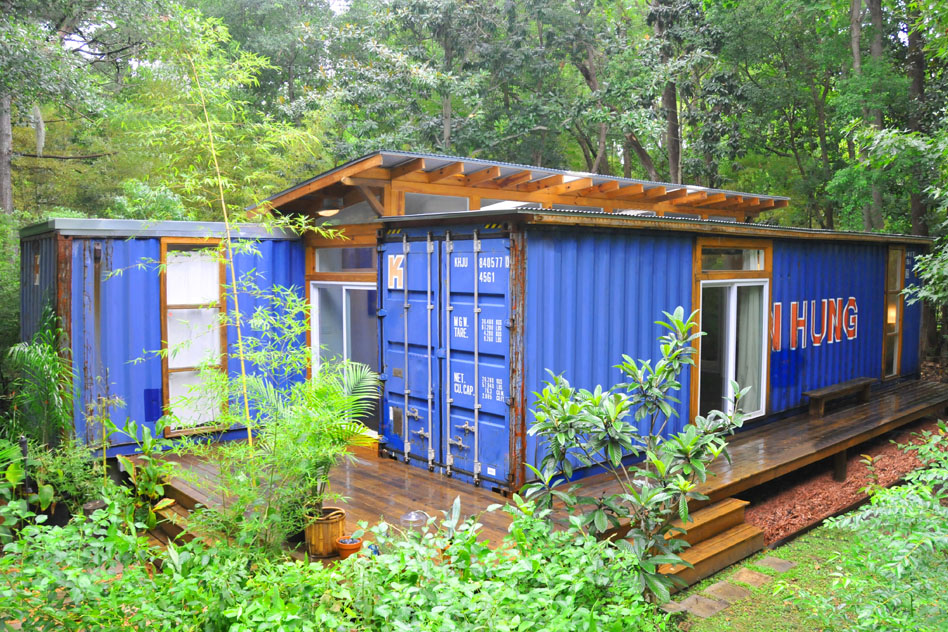 Small House Created From Recycled Shipping Containers