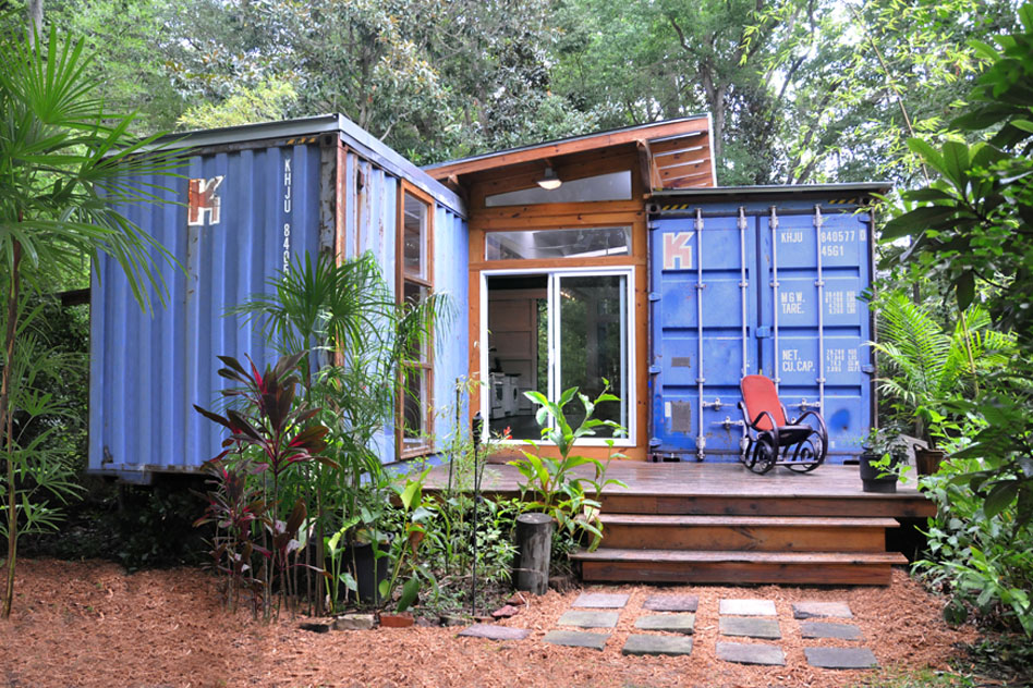 Shipping Container Home with Outdoor Patio Deck