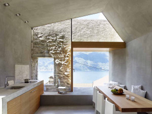Stone House with Modern Interiors