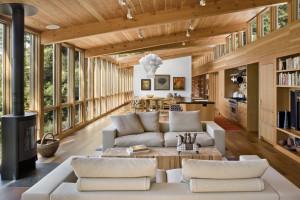 Beautiful Modern Home Wood Ceiling