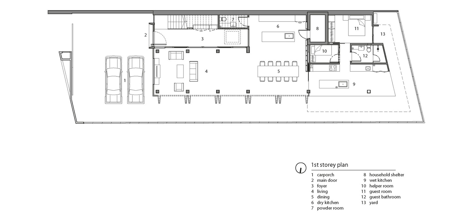 Double Storey Semi Detached House Floor Plan: A Semi-Detached House In Singapore Connects To Its