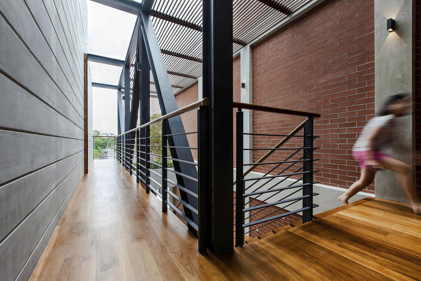 Semi Open Floor Plan Living Room And Kitchen