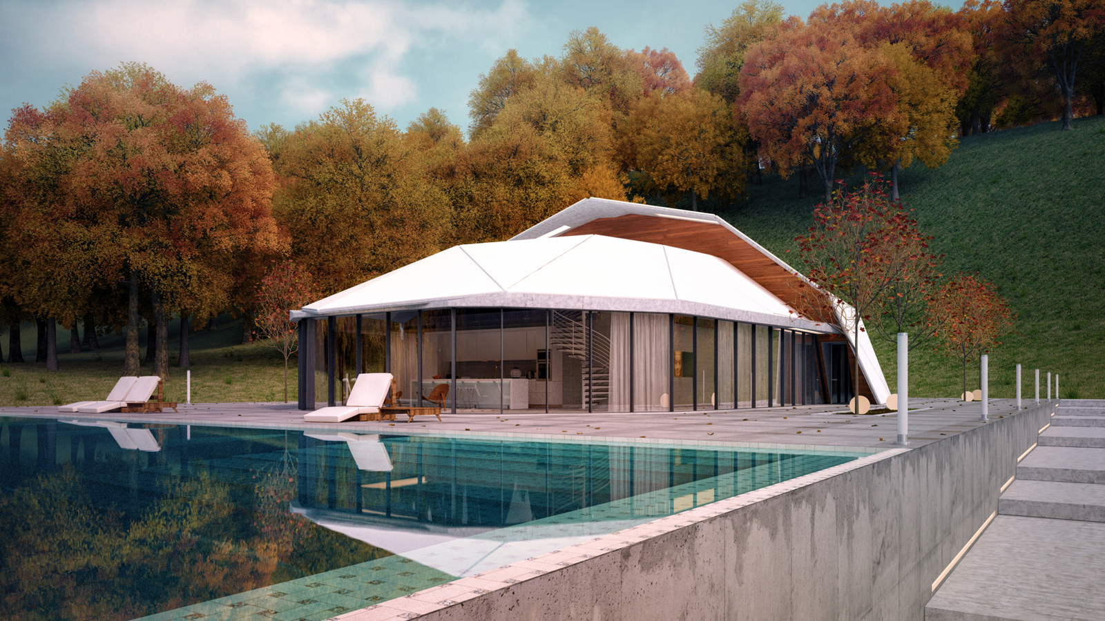 Modern Villa in the Forest with Swimming Pool