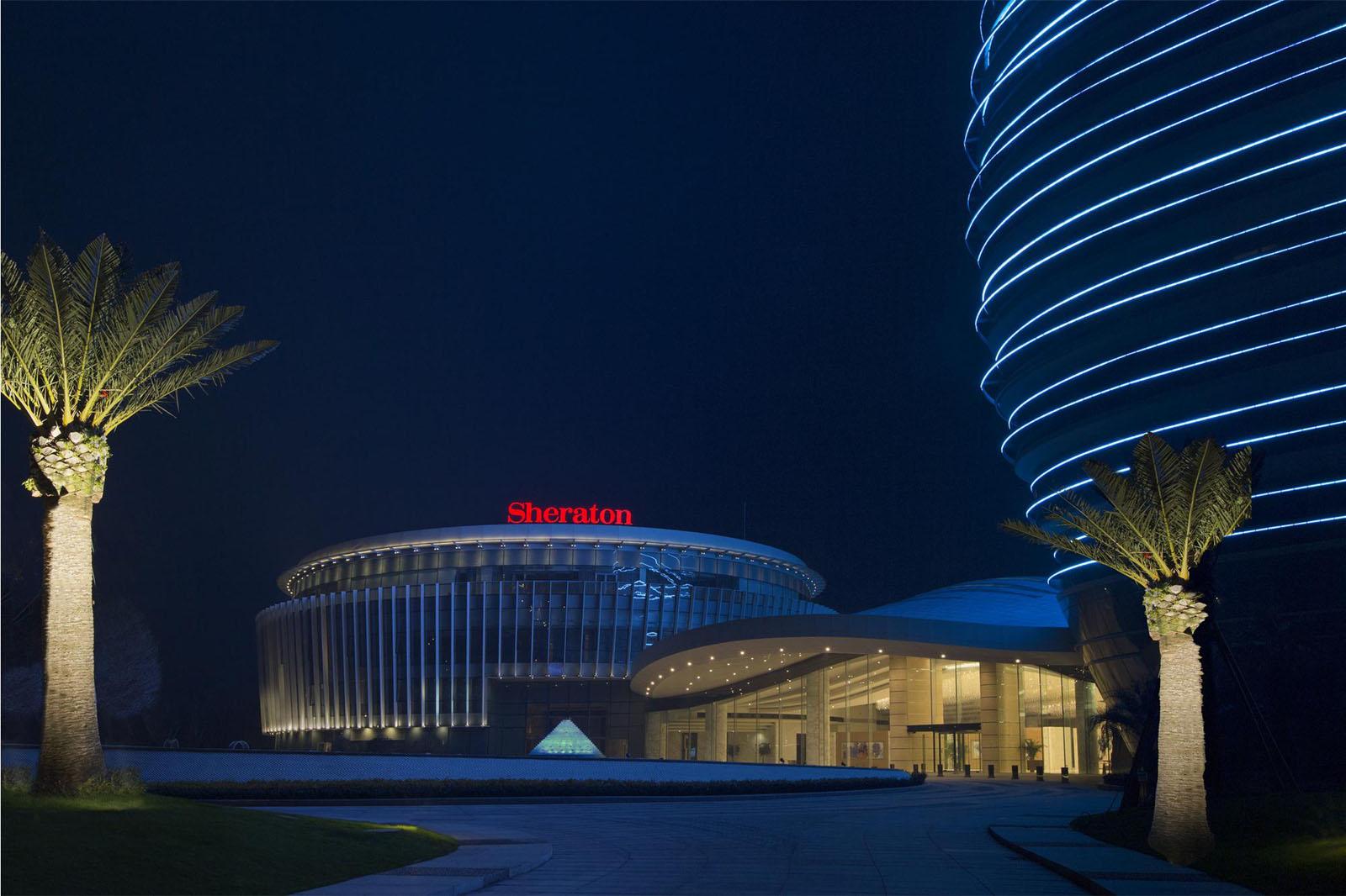Horseshoe Shaped Glowing Donut Hotel Sheraton Huzhou Hot