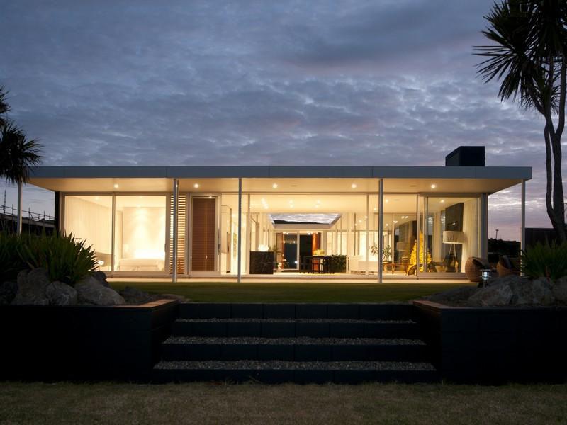 single level beach house in new zealand idesignarch interior