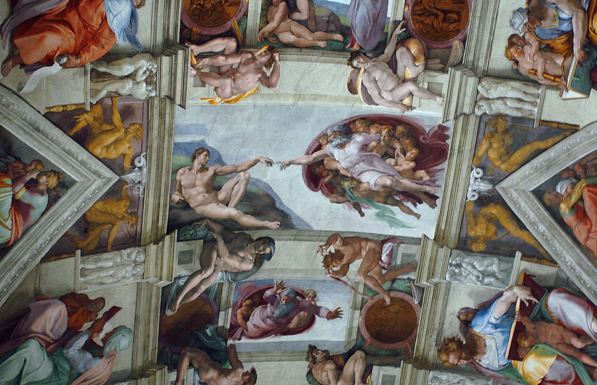 Michelangelo Ceiling The Creation of Adam
