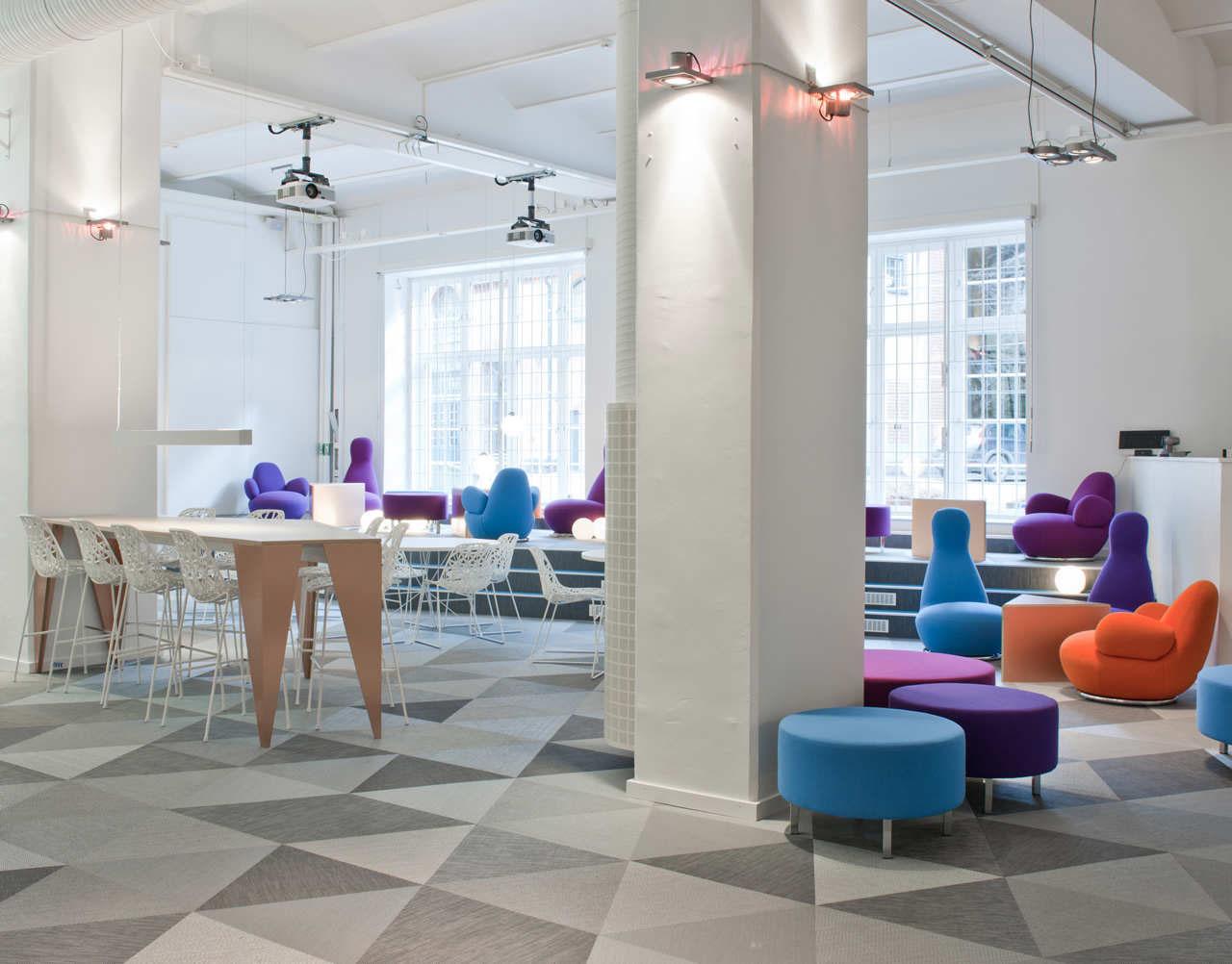 Skype office interior design in stockholm
